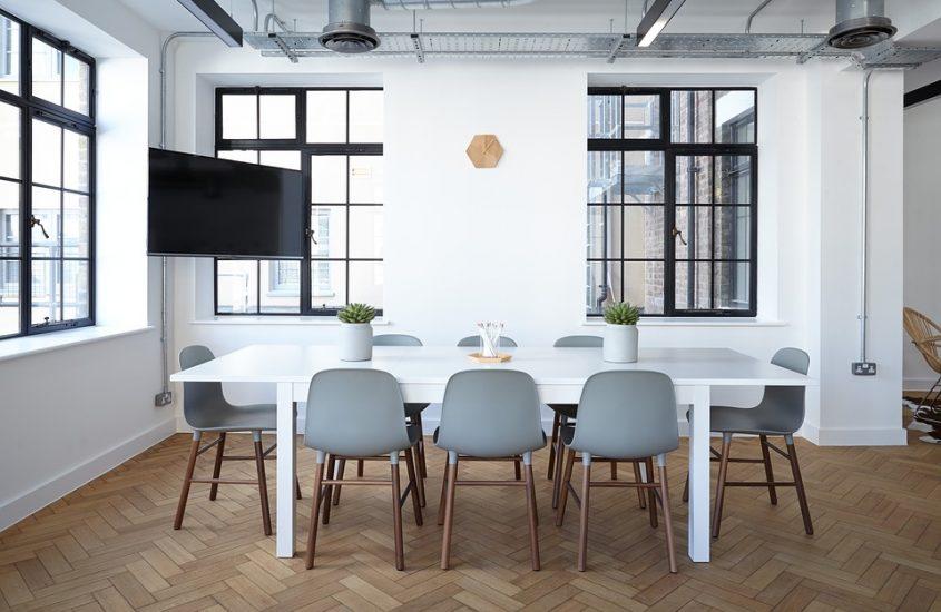 Scandinavische interieurstijl kantoor