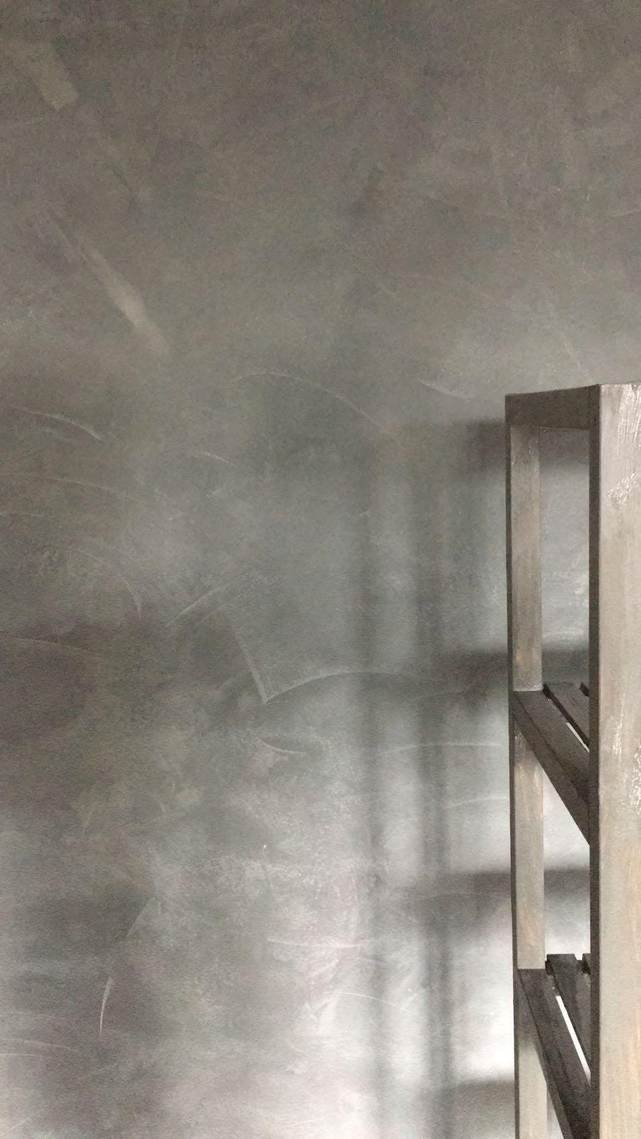 Tussenresultaat voor grijs, blauwe betonlook muur met betonlook effect