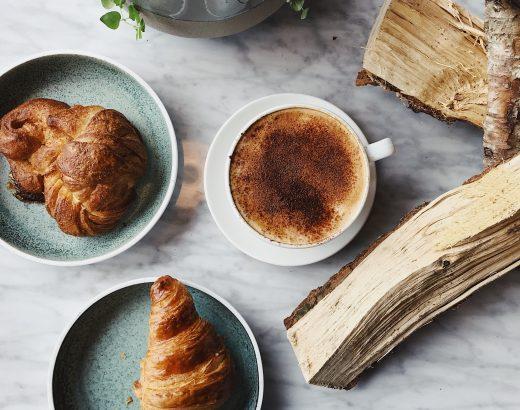 Marmer, ontbijt, croissant